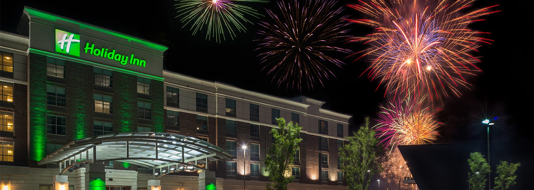 Holiday Inn with Fireworks